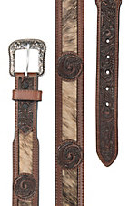 HOOey Roughy Men's Hairon Disc w/ Floral Western Belt