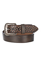HOOey Men's Dark Wash Geometric Billet Western Belt