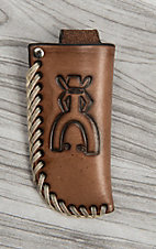 HOOey Brown with Punchy Logo Knife Sheath