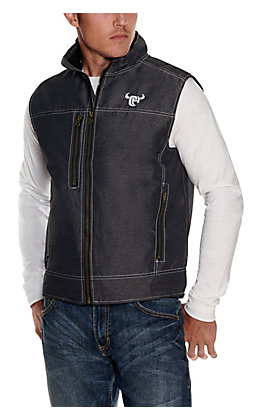 Cowboy Hardware Men's Charcoal Grey Soft Shell Vest