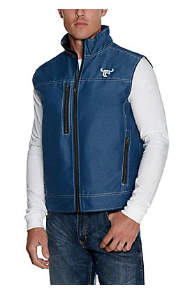 Cowboy Hardware Men's Blue Soft Shell Vest