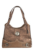 Justin Women's Bronze Tooling Purse