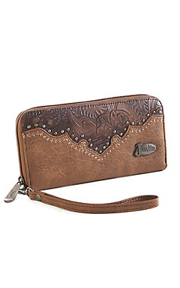 Justin Women's Copper Floral Tooled Wallet