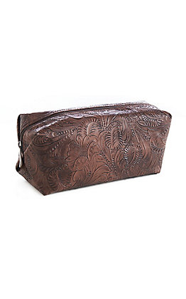 Justin Large Tooled Cosmetic Bag