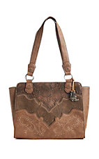 Justin Women's Copper Tooled Purse