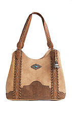 Justin Women's Tan Diamond Stitch Purse