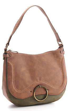 Justin Women's Chestnut and Olive Concealed Carry Hobo Bag