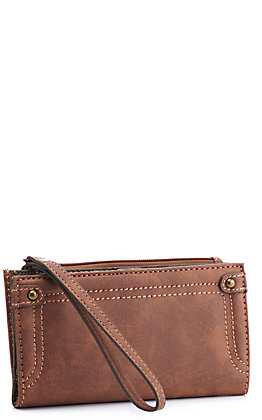 Justin Women's Chestnut and Olive Wallet