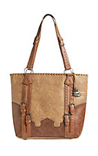 Justin Women's Sandstone Buckles Purse