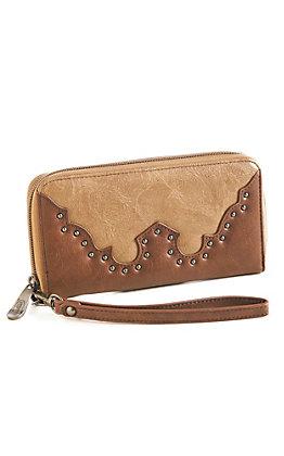 Justin Women's Sandstone Buckles Wallet