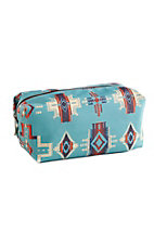Justin Women's Large Turquoise Aztec Cosmetic Bag