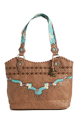 Justin Women's Turquoise Aztec Purse