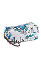 Catchfly Women's Kendall Large Cactus Cosmetic Bag