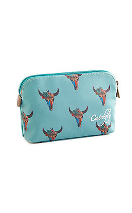 Catchfly Women's Cavender's Exclusive Small Tribal Skull Cosmetic Bag