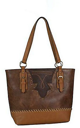 Justin Women's Saddle Tan & Brown Tote