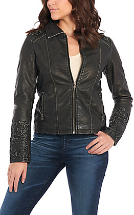 Cowgirl Legend Women's Black Leather Jacket