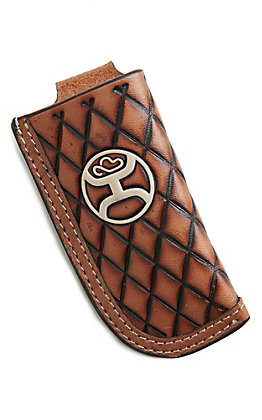 HOOey Cavender's Exclusive Brown Crosshatch Knife Sheath