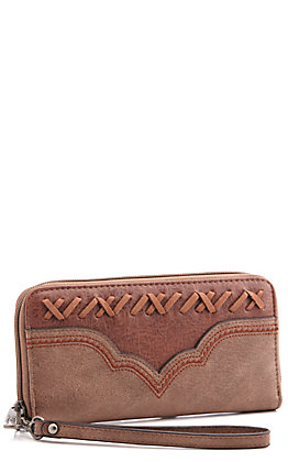Justin Women's Weathered Espresso Wallet