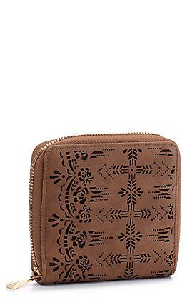 Catchfly Women's Hazelnut Chloe Mini Wallet