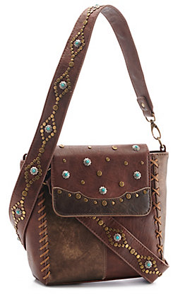 Catchfly Women's Leather Selena Crossbody Bag