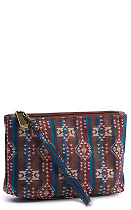 Justin Women's Essentials Sierra Aztec Cosmetic Bag