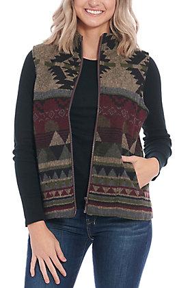 Cowgirl Legend Women's Tan Aztec Print Vest