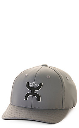 Hooey Youth Solo III Grey with Black Coach Logo Flexfit Cap