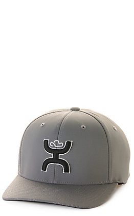 Hooey Solo III Grey with Black Coach Logo Flexfit Cap