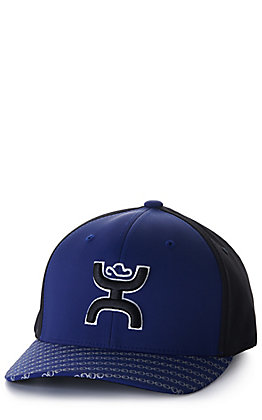 Hooey Solo III Navy and Black with Black and White Coach Logo Sweat Resistant Cap