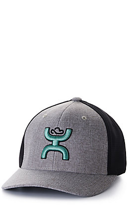 Hooey Ash Grey and Black with Mint Logo Cap