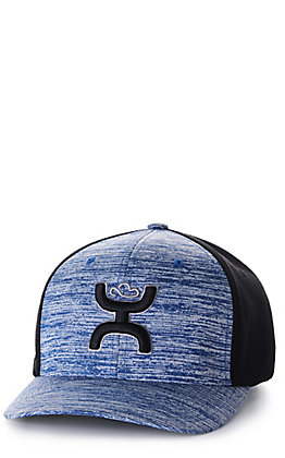 Hooey Ash Heather Navy and Black with Black Logo Cap