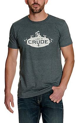 All American Men's Heather Grey I Like It Crude Short Sleeve T-Shirt