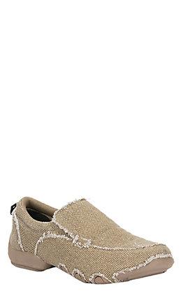 Roper Men's Khaki Canvas Performance Sport Slip-On Shoes