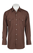 Ely Cattleman Men's Brown L/S Western Snap Shirt