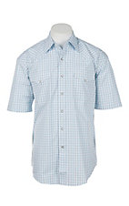 Stetson Men's Light Blue Gingham S/S Western Shirt