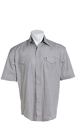 Stetson Men's White Geo Print Short Sleeve Western Shirt