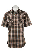 Ely Cattleman Men's Brown Plaid S/S Western Shirt