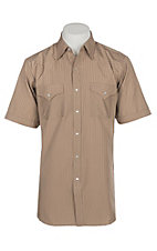 Ely and Walker Company Men's Khaki Tone on Tone S/S Western Snap Shirt