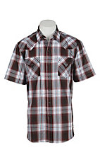 Ely Cattleman Men's Brick Plaid S/S Western Shirt