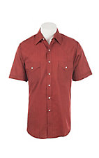 Ely Cattleman  Men's Red Short Sleeve Western Shirt