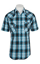 Ely Cattleman Men's Special Blue Plaid S/S Western Snap Shirt