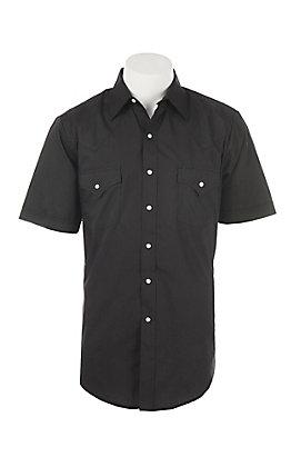 Ely Cattleman Men's Black Short Sleeve Western Shirt