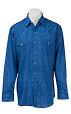 Ely Cattleman Men's Royal Blue Plaid Western Shirt