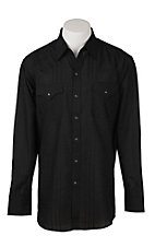 Ely Cattleman Men's Black Solid Textured L/S Fashion Shirt