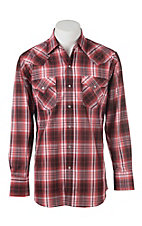 Ely Cattleman Red Plaid L/S Fashion Shirt
