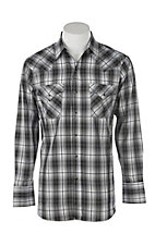 Ely Cattleman Men's Black Textured Plaid L/S Western Fashion Shirt