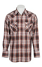 Ely Cattleman Black Sienna Plaid Plaid L/S Western Fashion Shirt