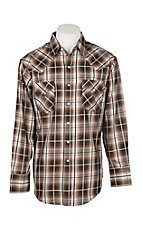 Ely Cattleman Men's Brown Plaid L/S Western Snap Shirt