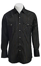 Ely Cattleman L/S Solid Black Lurex  Shirt 20294489