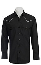 Ely Cattleman Black Western Shirt- Big & Talls